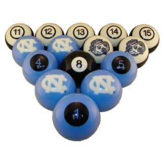 North Carolina Tar Heels Billiard Ball Set | moneymachines.com