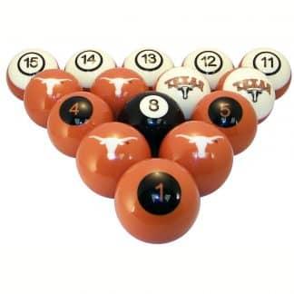 Texas Longhorns Billiard Ball Set | moneymachines.com
