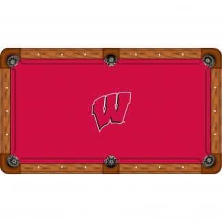 Wisconsin Badgers Billiard Table Cloth   moneymachines.com
