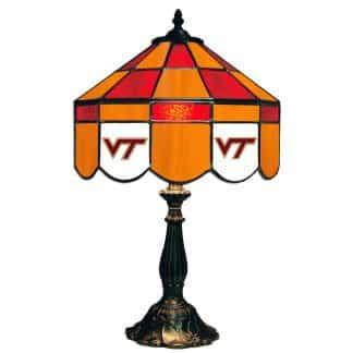 Virginia Tech Hokies Stained Glass Table Lamp | moneymachines.com