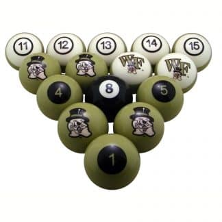 Wake Forest Demon Deacons Billiard Ball Set | moneymachines.com