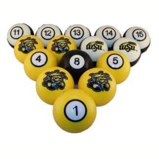 Witchita State Shockers Billiard Ball Set | moneymachines.com
