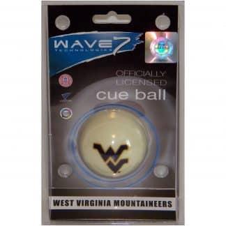 West Virginia Mountaineers Billiard Cue Ball | moneymachines.com