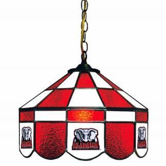 Alabama Crimson Tide Stained Glass Swag Hanging Lamp   moneymachines.com