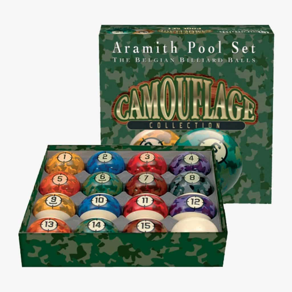 Aramith Camouflage Collection Ball Set   moneymachines.com