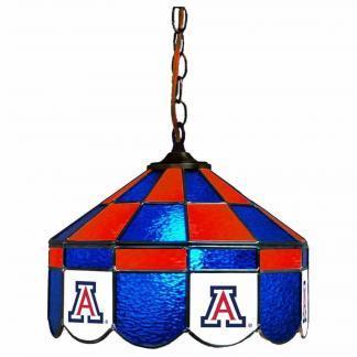Arizona Wildcats Stained Glass Swag Hanging Lamp | moneymachines.com
