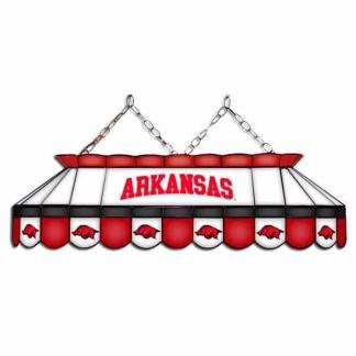 "Arkansas Razorbacks MVP 40"" Tiffany Stained Glass Pool Table Lamp | moneymachines.com"
