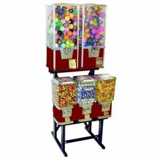 Big Pro 5 Unit Combo Vending Machine Rack Stand | moneymachines.com
