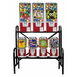 Big Pro 7 Unit Combo Vending Machine Rack Stand | moneymachines.com