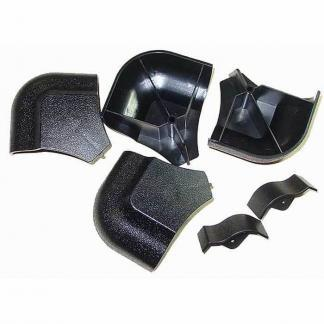 Black Plastic AMF Pool Table Rail Caps - Set of 4 | moneymachines.com