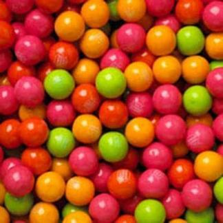 Bubble Brights Neon Gumballs - Case Of Assorted 1 Inch 850 Count | moneymachines.com