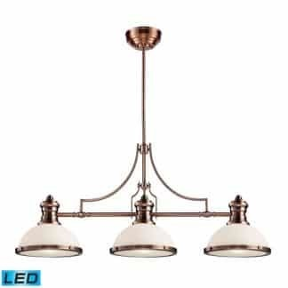 Chadwick LED 47 inch Antique Copper Billiard/Island Ceiling Light | ELK 66245-3-LED | moneymachines.com