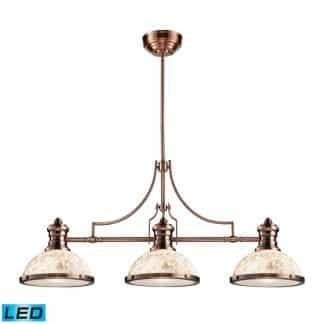 Chadwick LED 47 inch Antique Copper Billiard/Island Ceiling Light | ELK 66445-3-LED | moneymachines.com