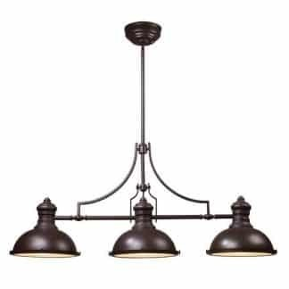 Chadwick LED 47 inch Oiled Bronze Billiard/Island Ceiling Light | ELK 66135-3-LED | moneymachines.com