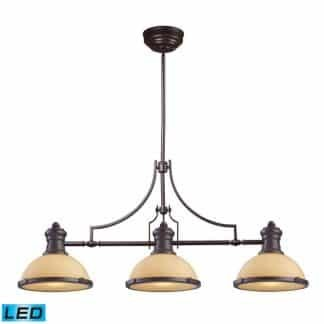 Chadwick LED 47 inch Oiled Bronze Billiard/Island Ceiling Light | ELK 66235-3-LED | moneymachines.com