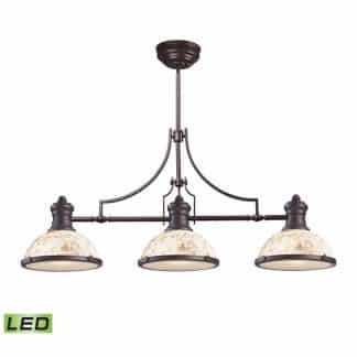 Chadwick LED 47 inch Oiled Bronze Billiard/Island Ceiling Light | ELK 66435-3-LED | moneymachines.com