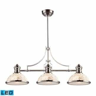Chadwick LED 47 inch Polished Nickel Billiard/Island Ceiling Light ELK 66415-3-LED | moneymachines.com