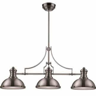 Chadwick LED 47 inch Satin Nickel Billiard/Island Ceiling Light | ELK 66125-3-LED | moneymachines.com
