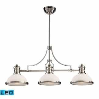 Chadwick LED 47 inch Satin Nickel Billiard/Island Ceiling Light | ELK 66225-3-LED | moneymachines.com