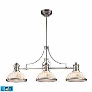 Chadwick LED 47 inch Satin Nickel Billiard/Island Ceiling Light | ELK 66425-3-LED | moneymachines.com