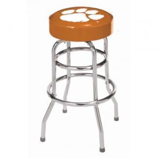 Clemson Tigers College Logo Double Rung Bar Stool   moneymachines.com