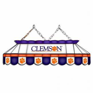 "Clemson Tigers MVP 40"" Tiffany Stained Glass Pool Table Lamp 