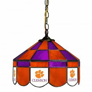 Clemson Tigers Stained Glass Swag Hanging Lamp | moneymachines.com