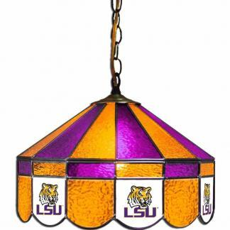 College Logo Tiffany Stained Glass Swag Hanging Lamps