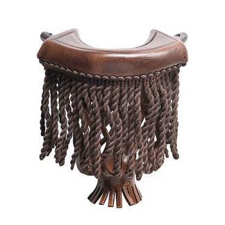 Dark Brown Leather With Dark Brown Fringe Pool Table Pockets | moneymachines.com