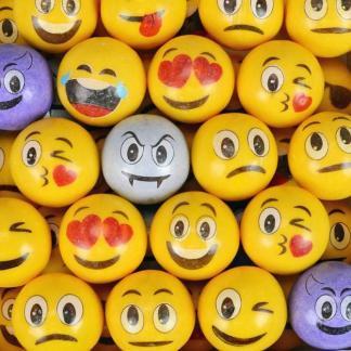 Emoti Gumballs - Case Of 2 Inch 138 Count | moneymachines.com