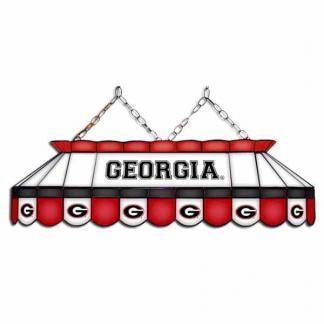 "Georgia Bulldogs MVP 40"" Tiffany Stained Glass Pool Table Lamp | moneymachines.com"