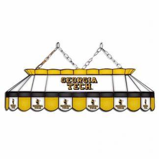 "Georgia Tech Yellow Jackets MVP 40"" Tiffany Stained Glass Pool Table Lamp   moneymachines.com"