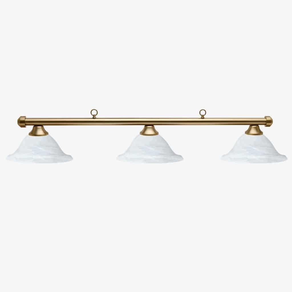 HJ Scott Aged Brass Bar 3 Glass Shade Billiard Table Light   moneymachines.com