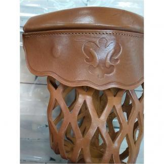 Honey Leather Shield Pool Table Pocket Set | moneymachines.com