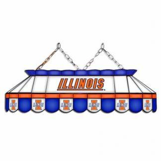 "Illinois Fighting Illini MVP 40"" Tiffany Stained Glass Pool Table Lamp | moneymachines.com"