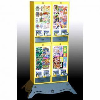 Impulse 8 Column Sticker Tattoo Vending Machine   moneymachines.com