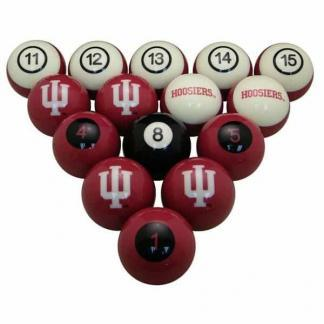 Indiana Hoosiers Billiard Ball Set | moneymachines.com