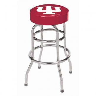 Indiana Hoosiers College Logo Double Rung Bar Stool | moneymachines.com