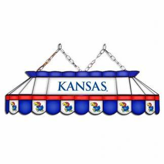 "Kansas Jayhawks MVP 40"" Tiffany Stained Glass Pool Table Lamp   moneymachines.com"