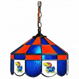 Kansas Jayhawks Stained Glass Swag Hanging Lamp | moneymachines.com