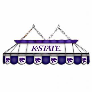 """Kansas State Wildcats MVP 40"""" Tiffany Stained Glass Pool Table Lamp 