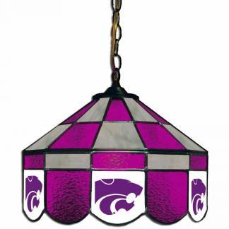Kansas State Wildcats Stained Glass Swag Hanging Lamp | moneymachines.com