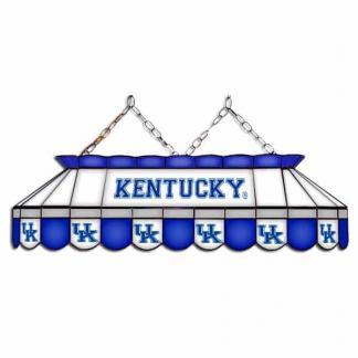"""Kentucky Wildcats MVP 40"""" Tiffany Stained Glass Pool Table Lamp 