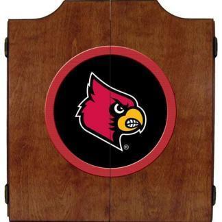 Louisville Cardinals College Logo Dart Cabinet | moneymachines.com