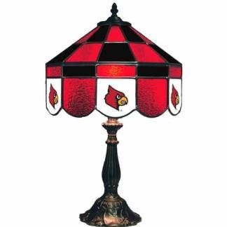 Louisville Cardinals Stained Glass Table Lamp | moneymachines.com