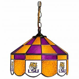 LSU Tigers Stained Glass Swag Hanging Lamp | moneymachines.com