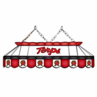 """Maryland Terrapins MVP 40"""" Tiffany Stained Glass Pool Table Lamp 