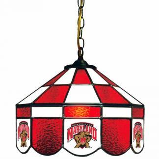 Maryland Terrapins Stained Glass Swag Hanging Lamp | moneymachines.com