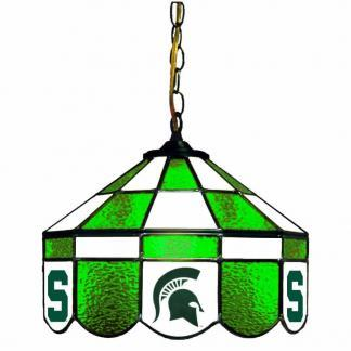 Michigan State Spartans Stained Glass Swag Hanging Lamp | moneymachines.com