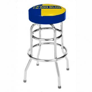 Michigan Wolverines College Logo Double Rung Bar Stool | moneymachines.com